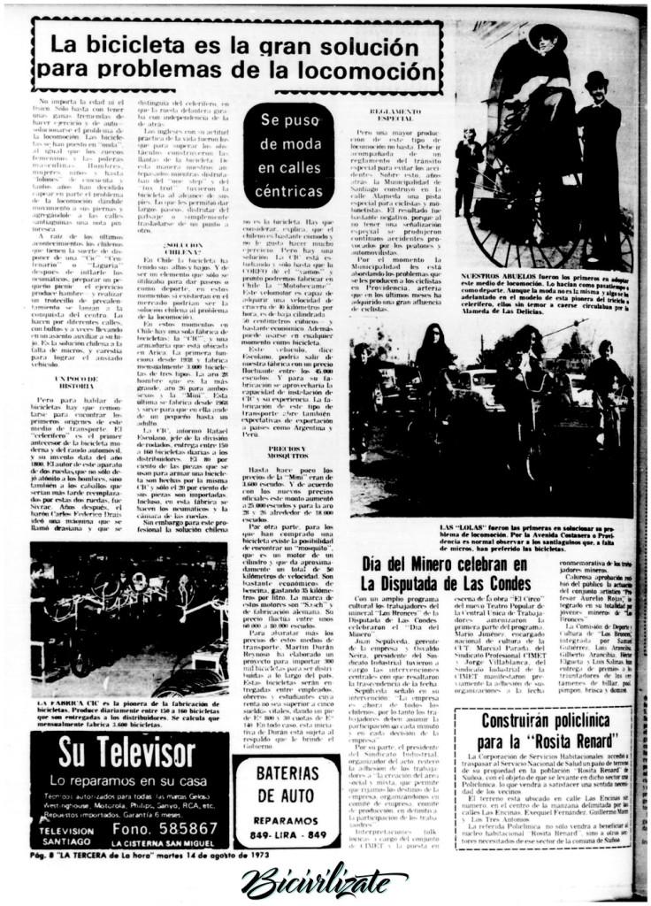 Página del diario La Tercera de la Hora