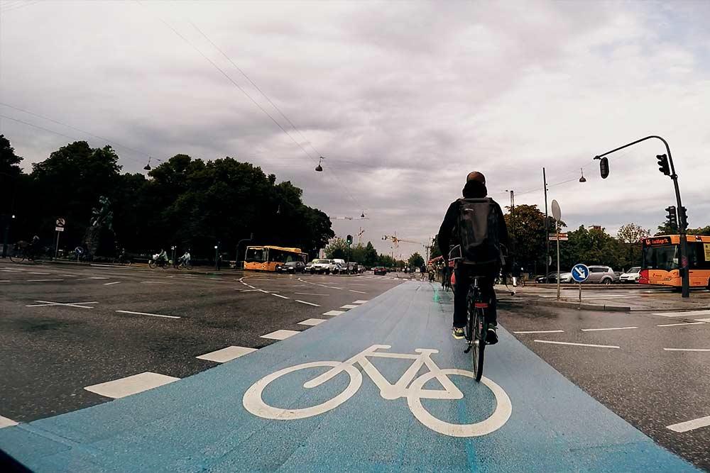 Tipos de infra ciclo-inclusiva en Dinamarca